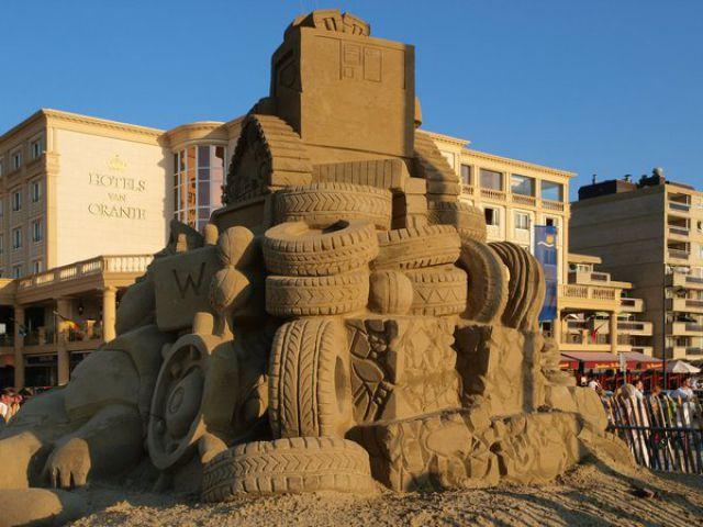 шины из песка