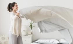 заправить одеяло