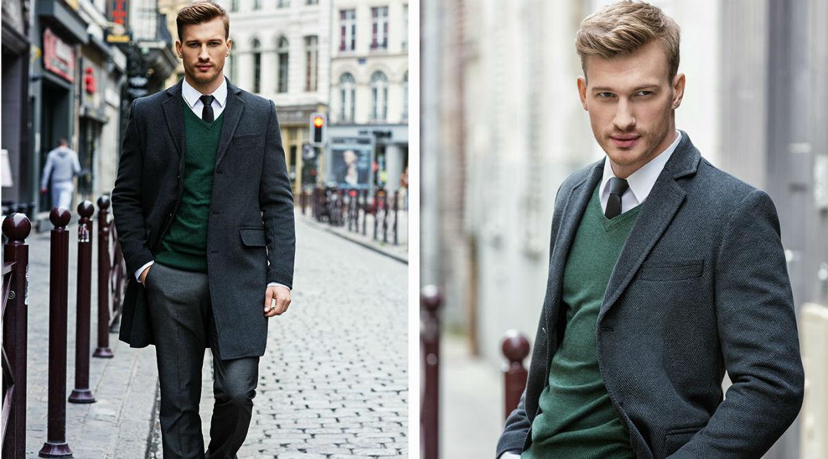 стильная офисная одежда для мужчин готовые образы Республика