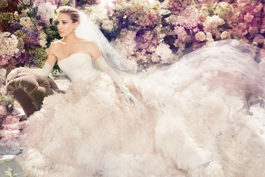 кэрри бредшоу в свадебном платье