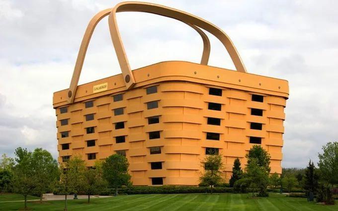 Дом в форме корзины в США