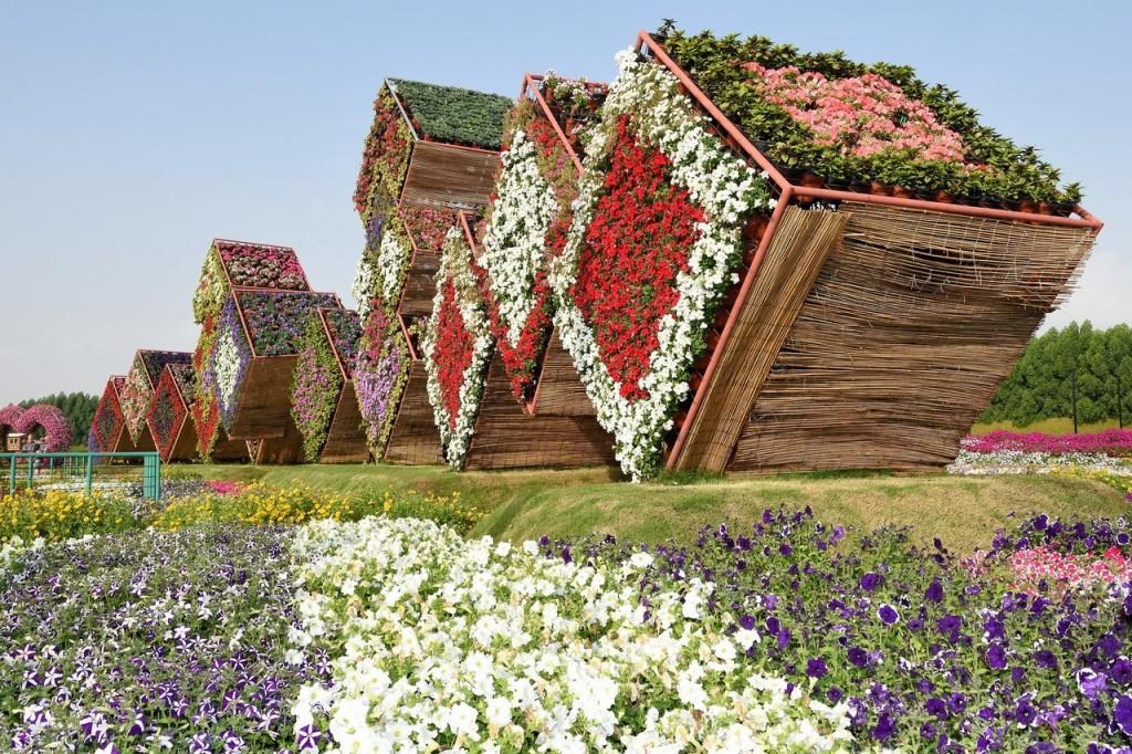 масштабный сад в Дубае Эмираты