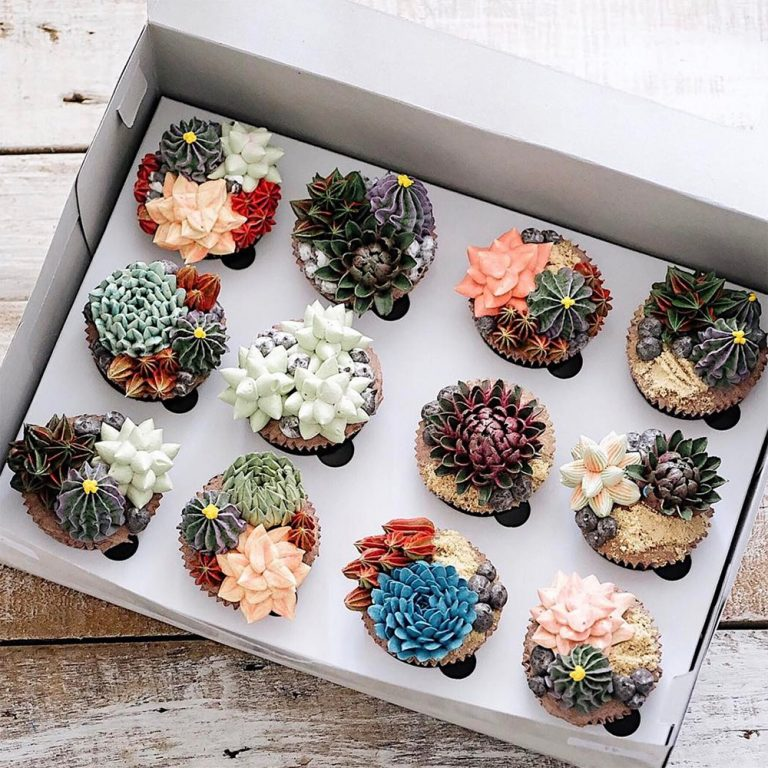 кексики с цветами