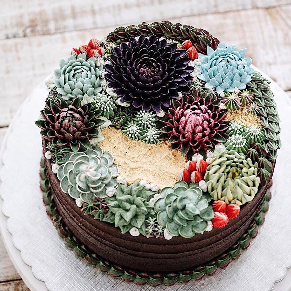 цветочки на торте