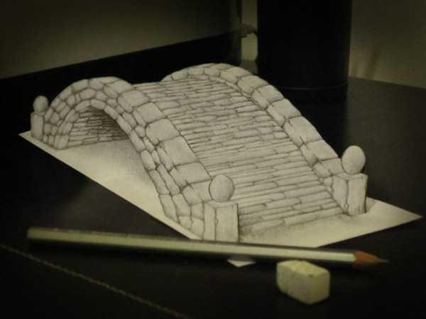 рисовать мост