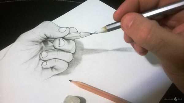 нарисованная рука