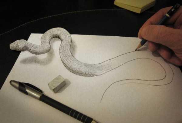 нарисованная змея
