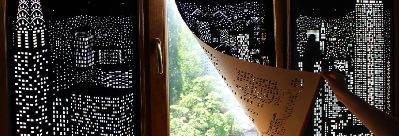 шторы с эффектом ночи