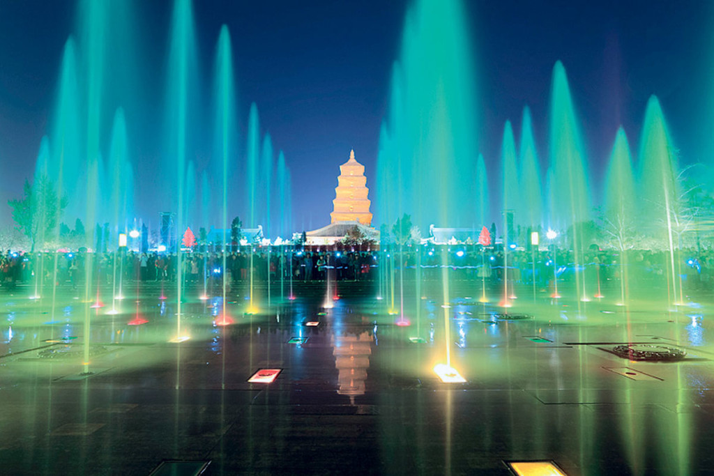 фонтан в Сиан Китай