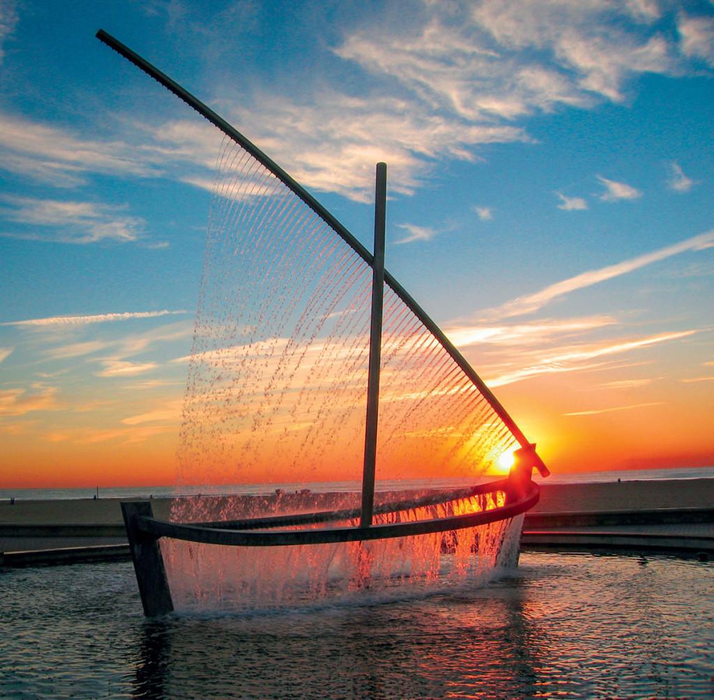 фонтан лодка в испании