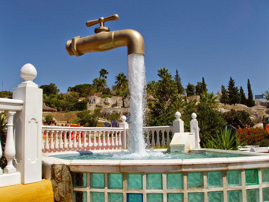 фонтан кран в испании