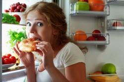 не наедаться едой