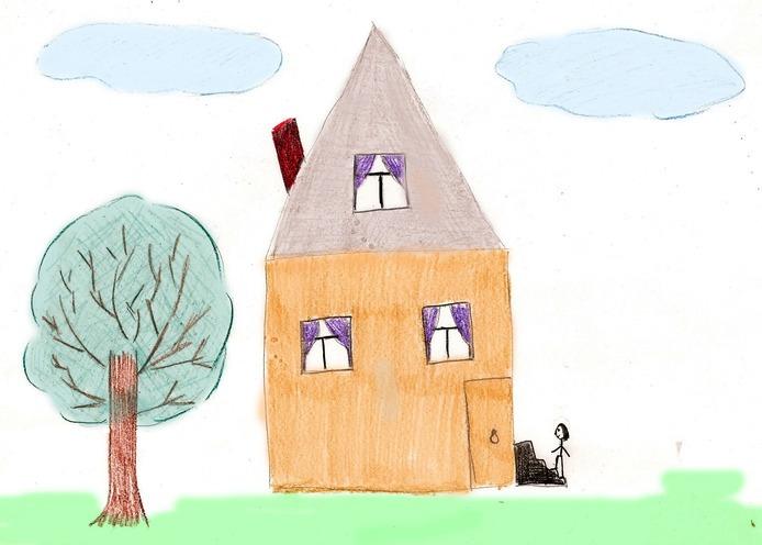 рисунок дерева и дома