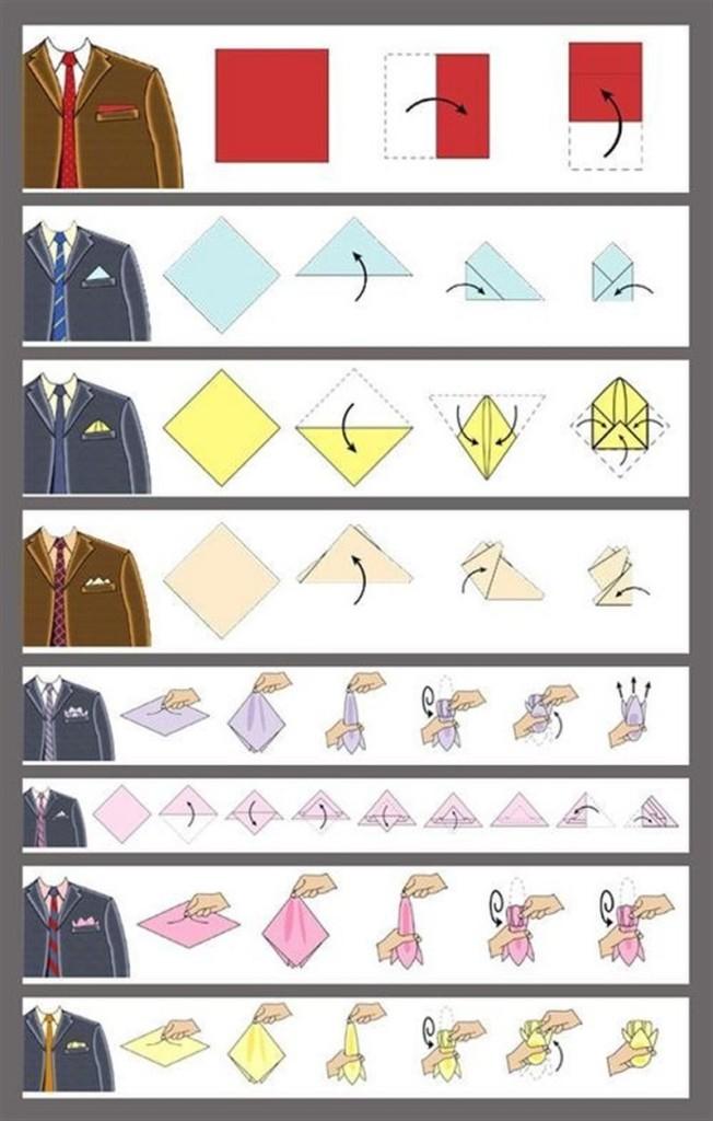 как сложить платок