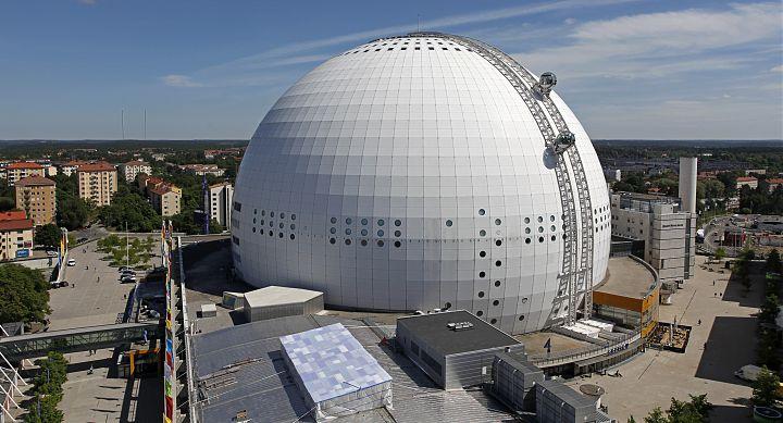сферическое сооружения Швеция