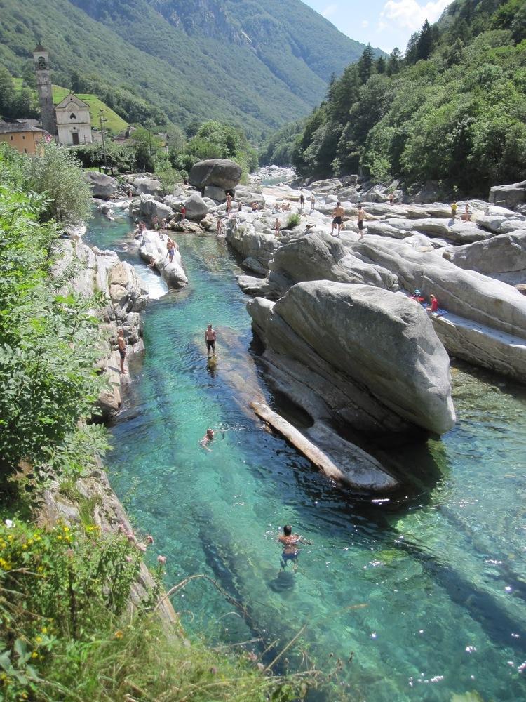 плавать в горной реке