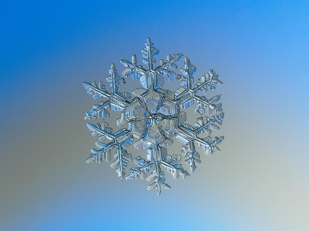 снежинки увеличение
