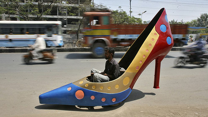 автомобиль в виде туфли
