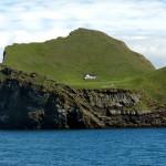Один-единственный домик на острове в Исландии
