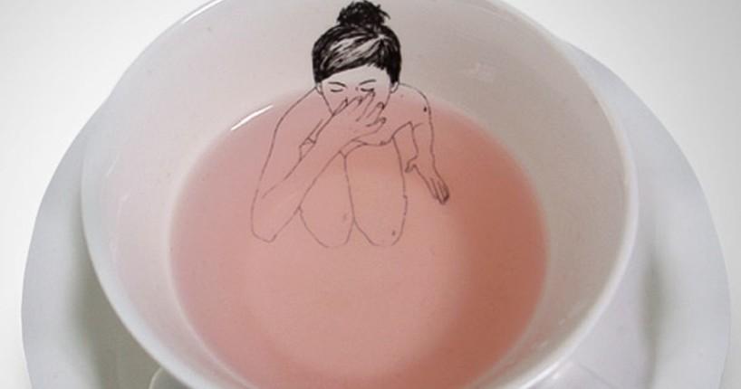 чашки с креативом